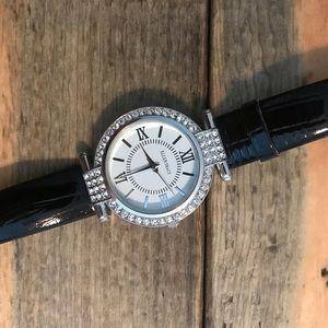 Used Ellen Tracy women's watch black and silver